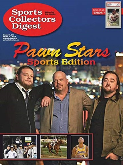 Sports Collectors Digest Cover - 10/11/2019