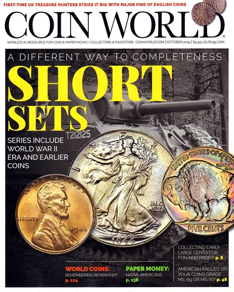 Coin World Weekly Cover - 10/1/2019