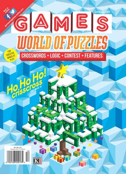 Games World of Puzzles Cover - 12/1/2019