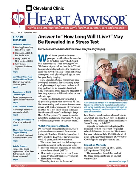 Heart Advisor Cover - 9/1/2019