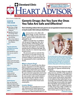 Heart Advisor Newsletter | 10/2019 Cover
