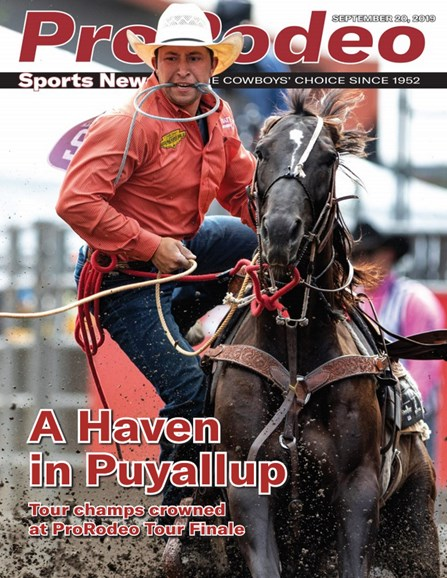 Pro Rodeo Sports News Cover - 9/20/2019