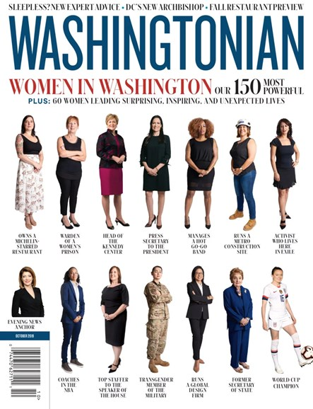 Washingtonian Cover - 10/1/2019