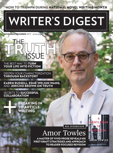 Writer's Digest Cover - 11/1/2019