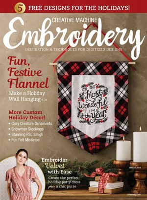 Creative Machine Embroidery | 12/2019 Cover