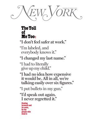 New York Magazine   9/30/2019 Cover