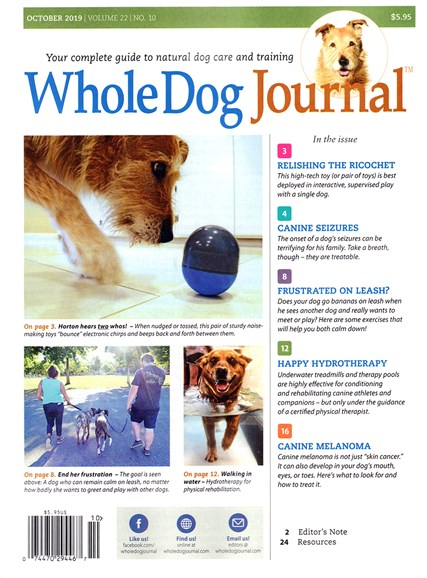 Whole Dog Journal Cover - 10/1/2019