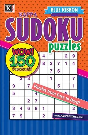 Blue Ribbon Kappa Sudoku Puzzles Magazine | 1/2025 Cover