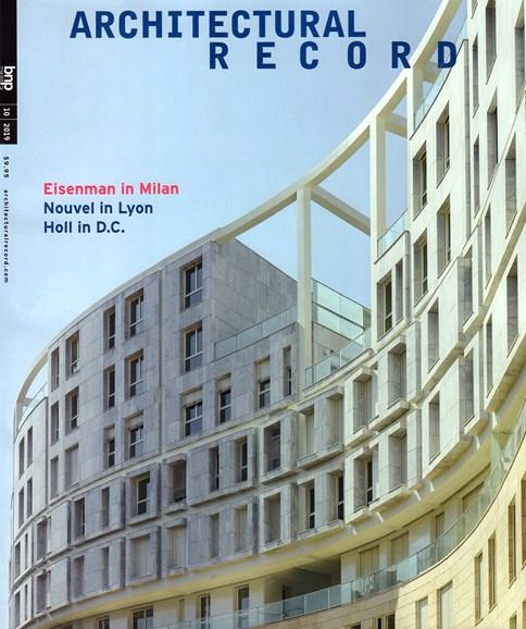 Architectural Record Cover - 10/1/2019