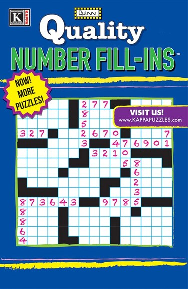 Quality Number Fill-ins Cover - 1/1/2025