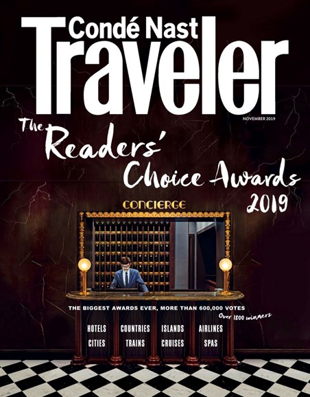 Condé Nast Traveler Cover - 11/1/2019