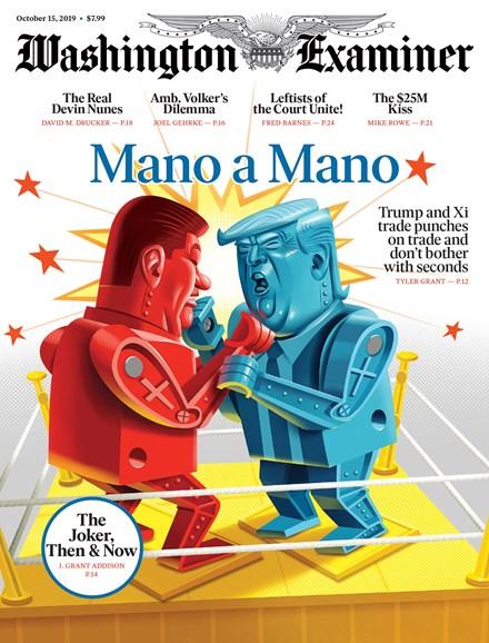 Washington Examiner Cover - 10/15/2019
