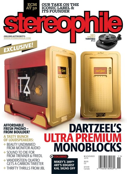 Stereophile Cover - 11/1/2019