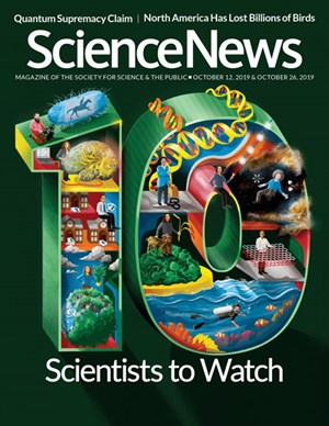 Science News Magazine | 10/12/2019 Cover