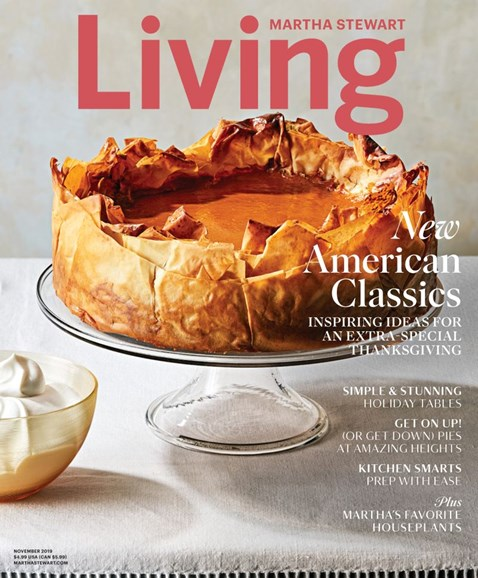 Martha Stewart Living Cover - 11/1/2019