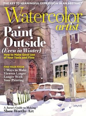 Watercolor Artist Magazine   12/2019 Cover