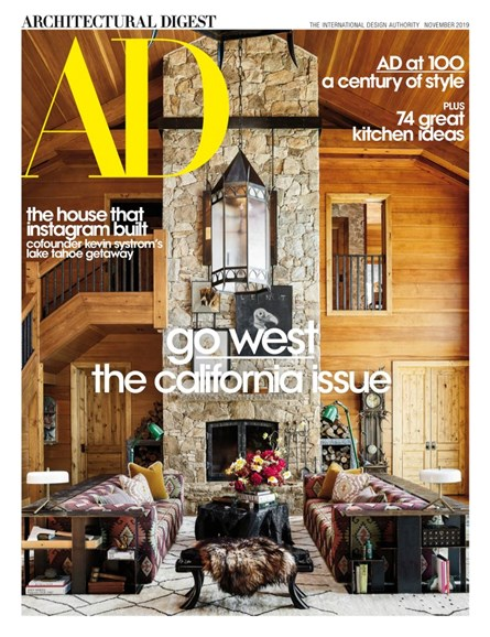 Architectural Digest Cover - 11/1/2019