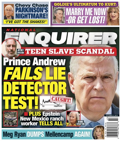National Enquirer Cover - 10/21/2019