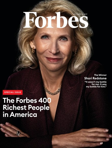 Forbes Cover - 10/31/2019