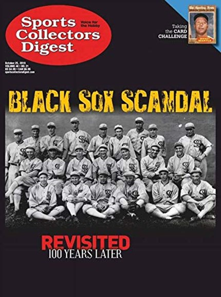 Sports Collectors Digest Cover - 10/25/2019