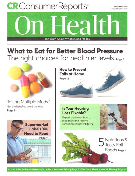Consumer Reports On Health Cover - 11/1/2019