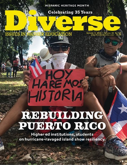 Diverse: Issues In Higher Education Cover - 10/3/2019