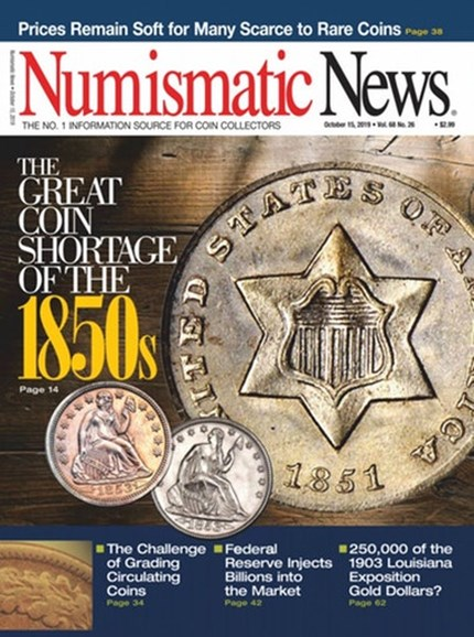 Numismatic News Cover - 10/15/2019