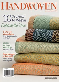 Handwoven Magazine | 11/2019 Cover