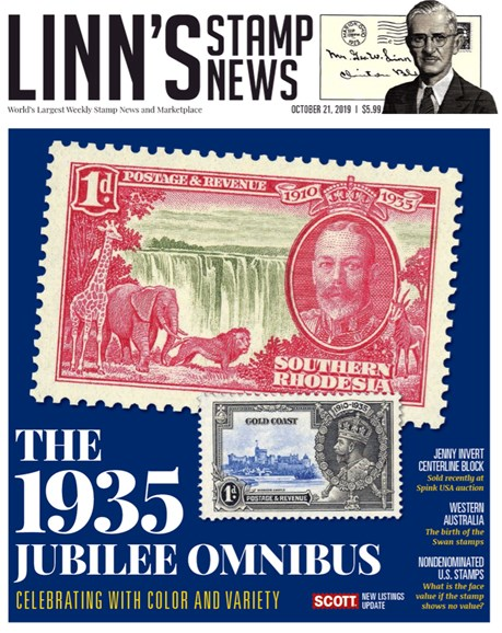Linn's Stamp News Monthly Cover - 10/21/2019