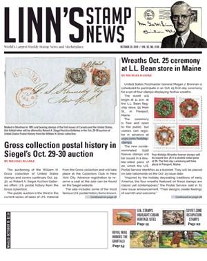 Linn's Stamp News Magazine | 10/28/2019 Cover