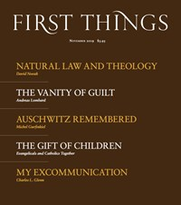 First Things Magazine   11/2019 Cover
