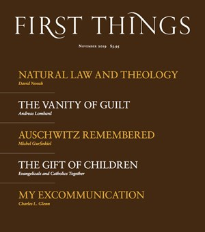 First Things Magazine | 11/2019 Cover