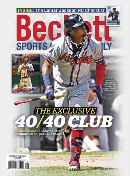 Beckett Sports Card Monthly Cover - 11/1/2019
