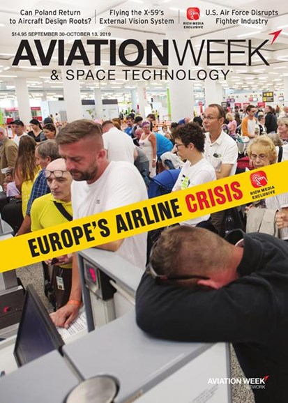 Aviation Week & Space Technology Cover - 9/30/2019