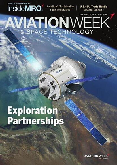 Aviation Week & Space Technology Cover - 10/14/2019
