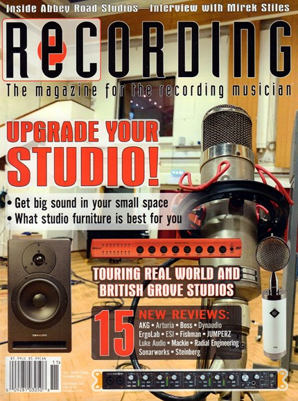 Recording Magazine Cover - 11/1/2019
