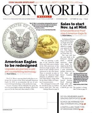 Coin World Magazine | 10/28/2019 Cover