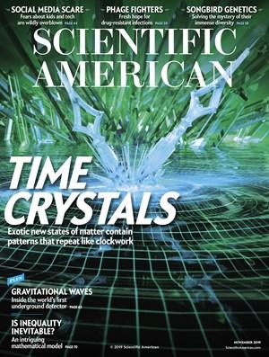 Scientific American Magazine   11/2019 Cover