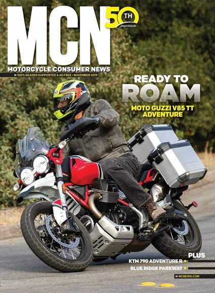 Motorcycle Consumer News Cover - 11/1/2019