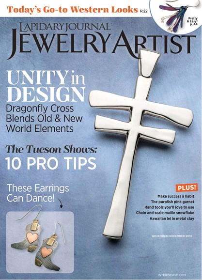 Lapidary Journal Jewelry Artist Cover - 11/1/2019
