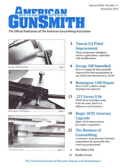 American Gunsmith Cover - 11/1/2019