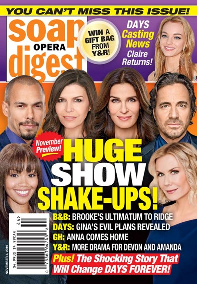 Soap Opera Digest Magazine | 11/4/2019 Cover