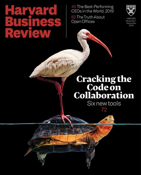 Harvard Business Review Cover - 11/1/2019