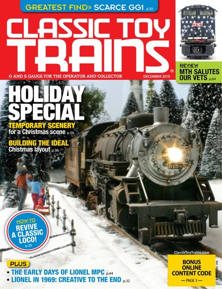 Classic Toy Trains Cover - 12/1/2019
