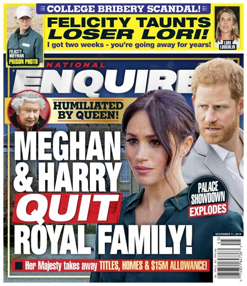 National Enquirer Cover - 11/11/2019