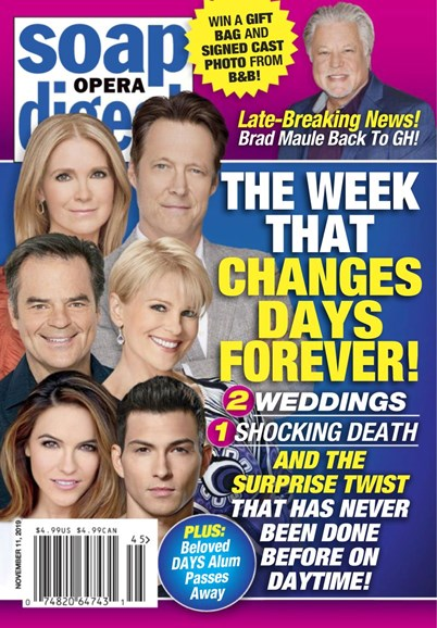 Soap Opera Digest Cover - 11/11/2019