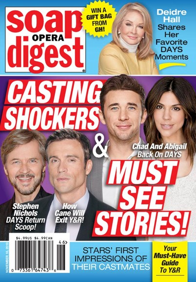 Soap Opera Digest Cover - 11/18/2019