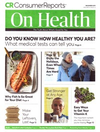 Consumer Reports On Health Magazine | 12/2019 Cover