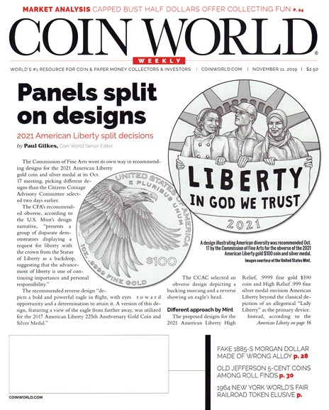 Coin World Weekly Cover - 11/11/2019