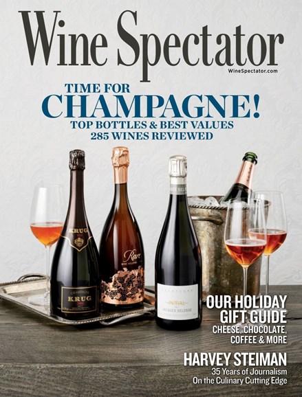 Wine Spectator Cover - 12/15/2019
